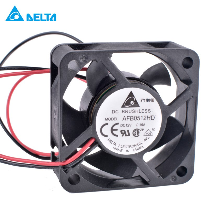 DELTA AFB0512HD 5cm 12V 0.15A 2-wire double ball bearing large air volume cooling fan