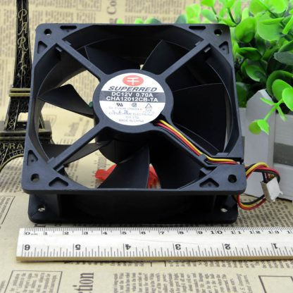 SUPERRED CHA12012CB-TA DC12V 0.70A 4 wire PWM control cooling fan