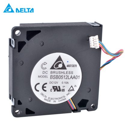 DELTA BSB0512LAA01 50x50x10mm 12V 0.10A Ultra-thin 4-wire centrifugal turbine blower cooling fan