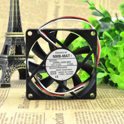 NMB-MAT 2806KL-04W-B59 7015 12V cooling fan 70x70x15mm