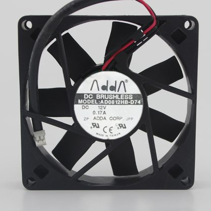 Brand New Original AD0812HB-D74 12V 0.17A ADDA 8015 8CM Chassis Power Supply Fan