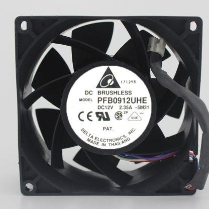 Delta PFB0912UHE 12V 2.35A 9CM 4 line Super Violence Server cooling fan