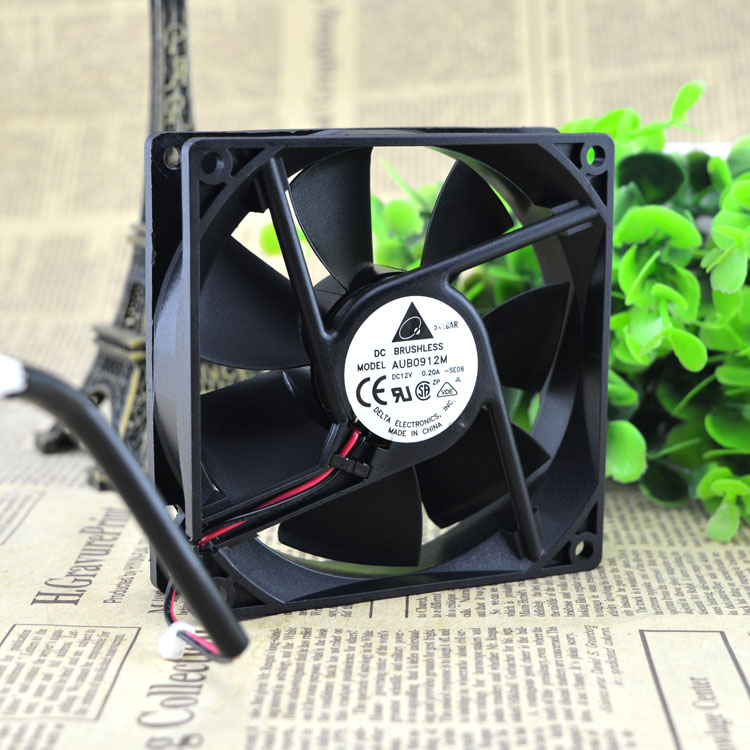 Delta AUB0912M 9CM 12V 0.20A chassis ultra-quiet cooling fan