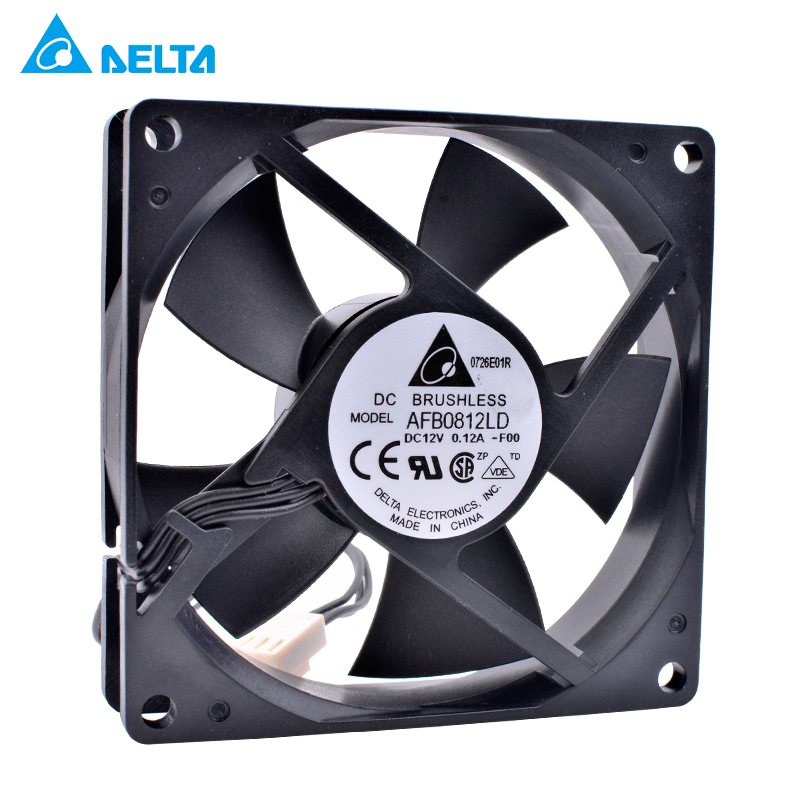 DELTA AFB0812LD-F00 12V 0.12A Double ball bearing cooling fan