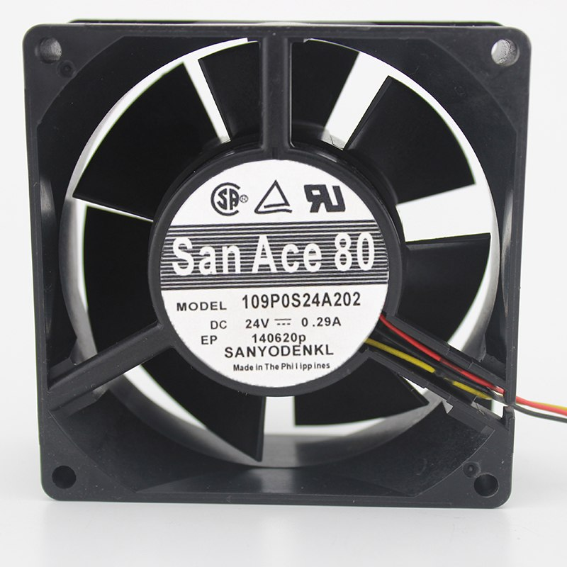 SANYO 109P0824A2 8cm 24V 0.29A inverter windy cooling fan