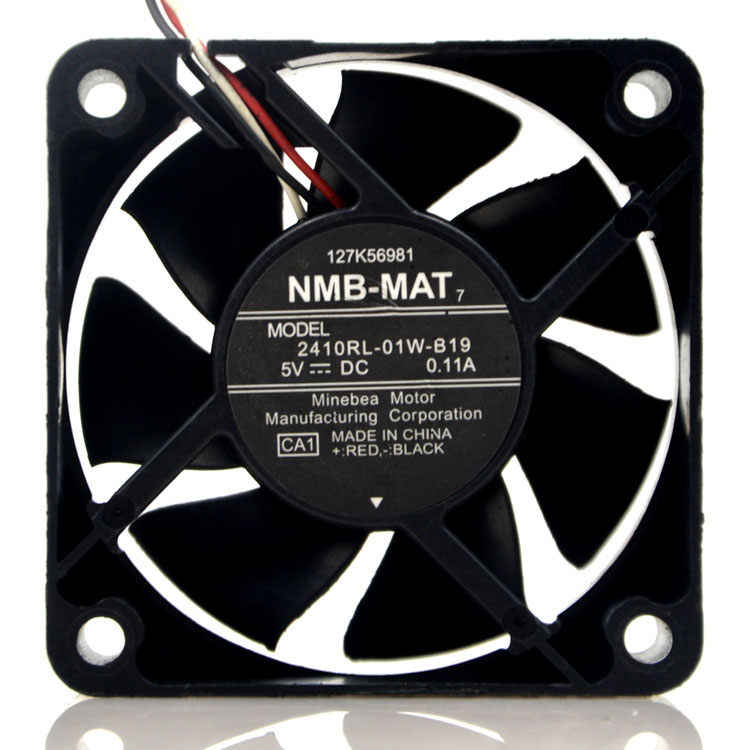 NMB 2410RL-01W-B19 5V 0.11A cooling fan