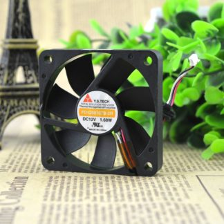 Y.S.TECH FD1260107B-2R DC12V 1.68W Slim cooling fan