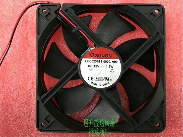 SUNON EEC0251B3-000C-A99 DC12V 1.9W Ventilateur de refroidissement muet 2 lignes
