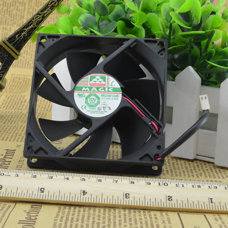 MAGIC MGA9212HB 12v 0.25A 9cm 2line double ball bearing cooling fan