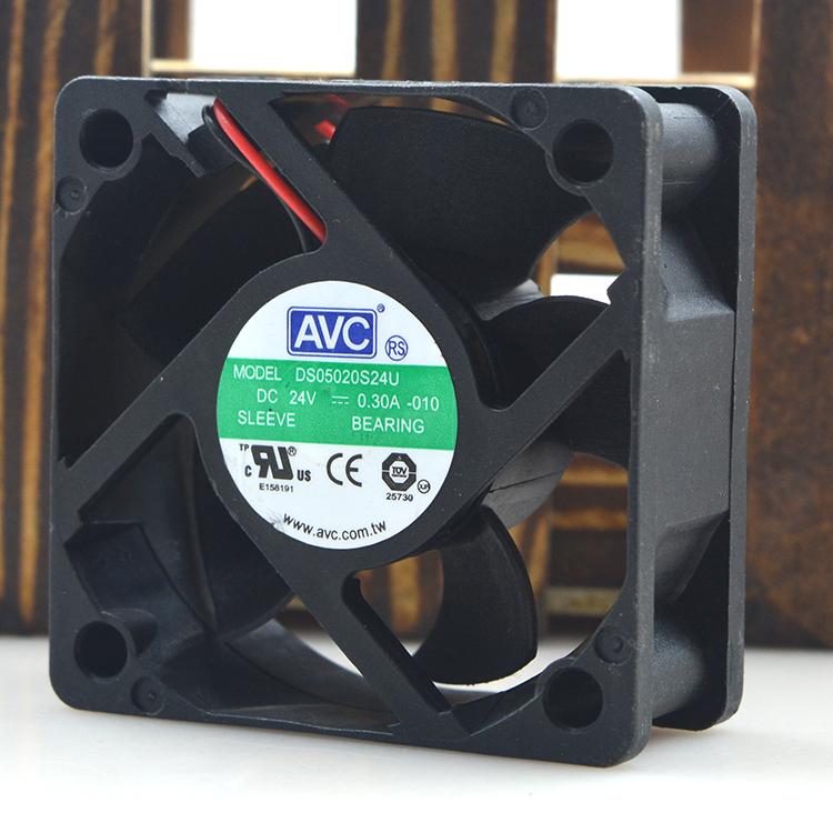 AVC DS050S24U 24V 0.30A dois fios inversor de ventilador de arrefecimento