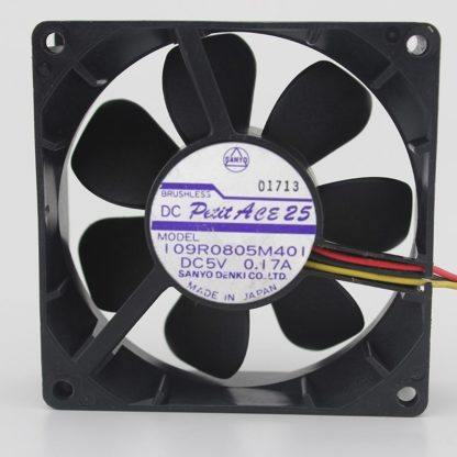 SANYO 109R0805M401 DC5V 0.17A 3-wire speed 8CM cooling fan