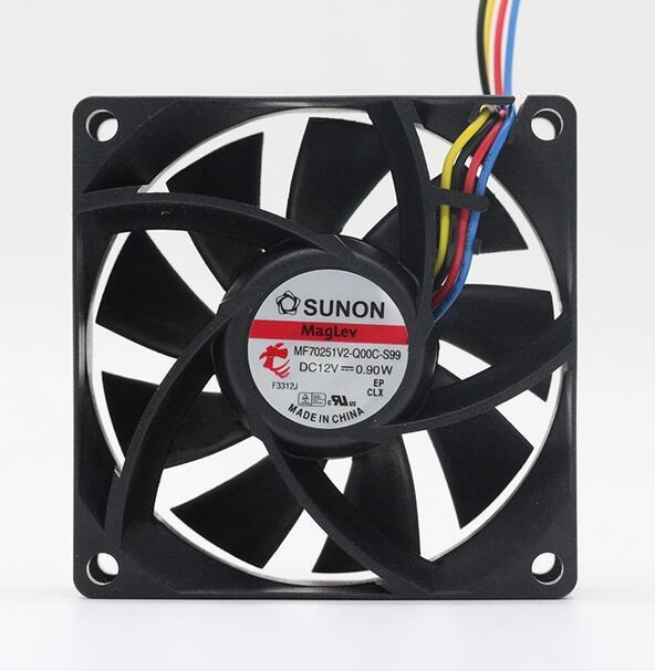 SUNON MF70251V2-Q00C-S99 0.9W 4針PWM磁懸浮冷卻風扇