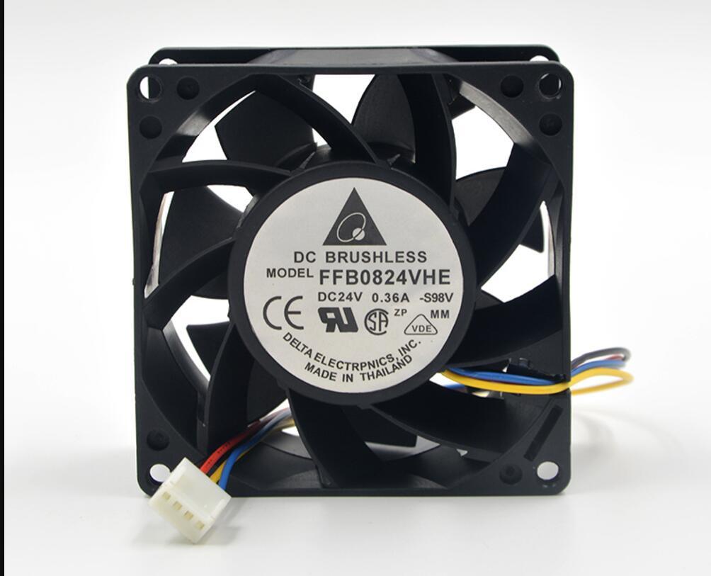 Delta FFB0824VHE 24V 0.36A double roulement à billes ventilateur de refroidissement