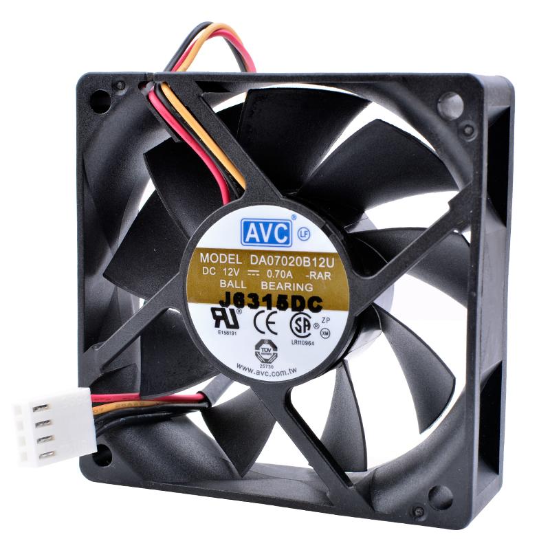 AVC DA070B12U 12V 0.70A balle Double ventilateur à roulement