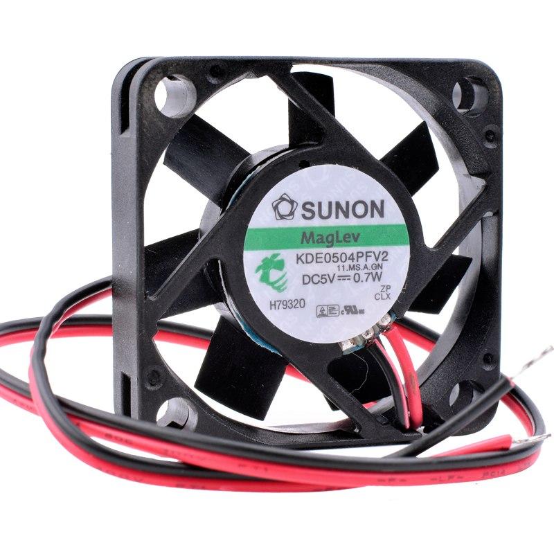 SUNON KDE0405PFV2 DC 5V 0.7W caixa router rolamento TV ventilador de refrigeração