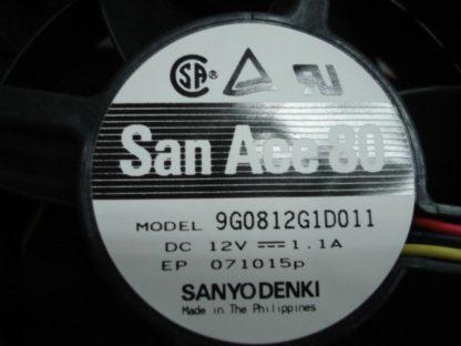 SANYO 9G0812G1D011 12V 1.1A dual ball bearing cooling fan