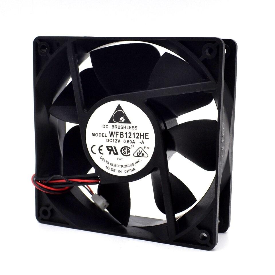 Delta WFB1212HE 12V 0.6A 7.2W double ball bearing cooling fan