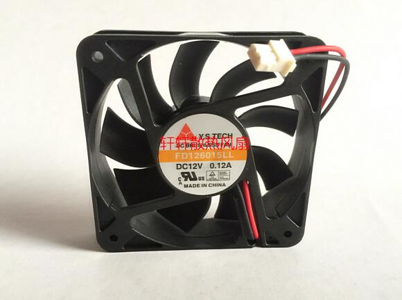 Y.S.TECH FD126015LL 6CM 12V 0.12A 2 wire double ball silent cooling fan