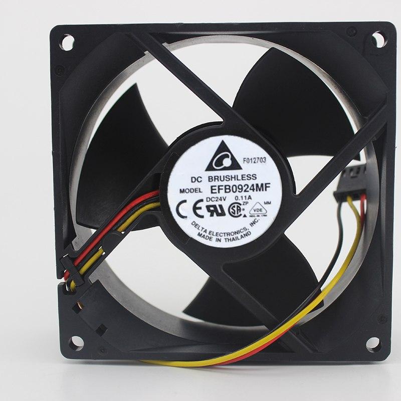 Delta EFB0924MF 9CM 24V 0.11A трехстворчатый вентилятор