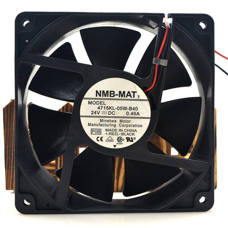 NMB 4712KL-05Ventilador de refrigeração W-B40 DC 24V 0.48A 3100RPM