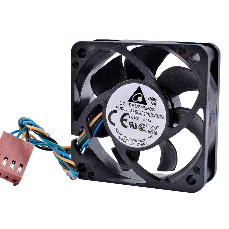 DELTA AFB04512HB-CN24 DC12V 0.17A 4pin pwm mini chassis cooling fan
