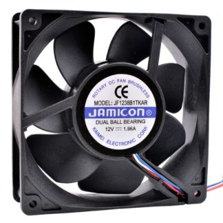 JAMICON JF1238B1TKAR DC12V 1.96A dual ball bearing cooling fan