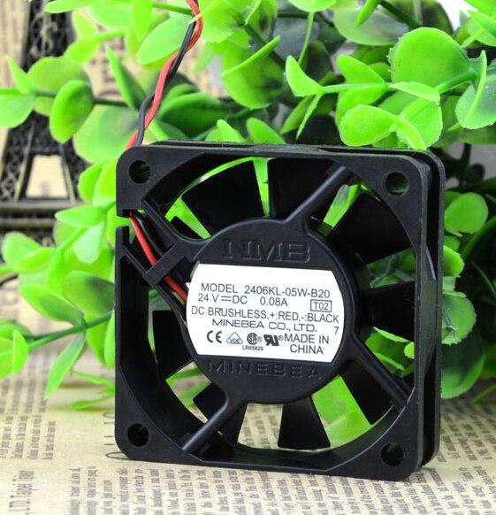 NMB 2406KL-05W-B20 6cm 24V 0.08A 6cm fan convertisseur 2wire
