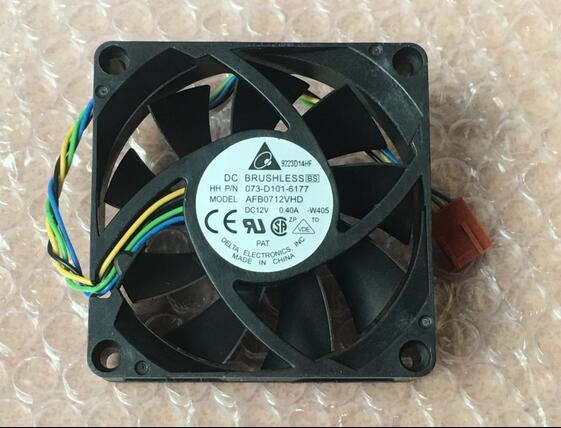 Delta AFB0712VHD DC 12V 0.40A 4-line PWM Intelligent Temperature Control Ball Bearing Cooling Fan