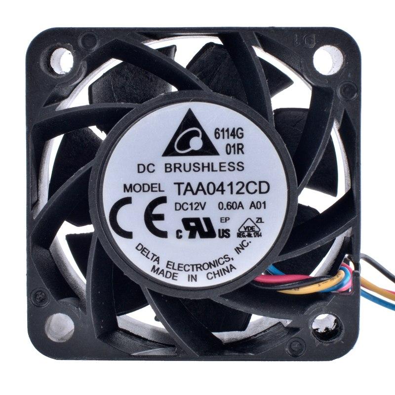DELTA TAA0412CD 12V 0.60A 4-проводный 4pin двойной шариковый подшипник вентилятора охлаждения