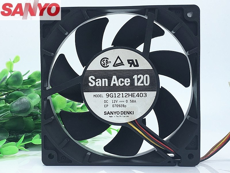 SANYO 9G1212HE403 12V 0.58A 4line PWM temperature control cooling fan