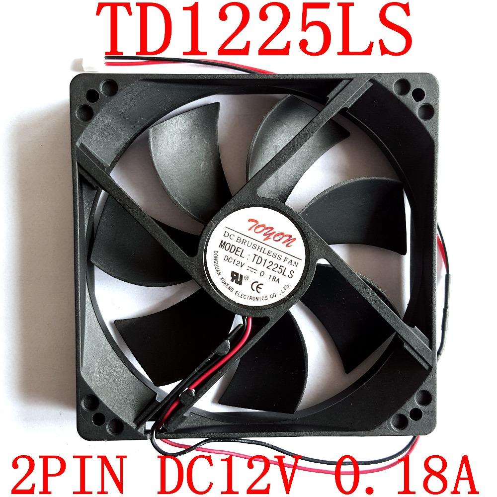 TOYON TD1225LS DC12V 0.18A 1x1x25mm Lüfter