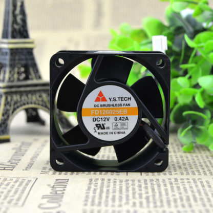 Y.S.TECH FD126025EB 12v 0.42A double ball bearing fan
