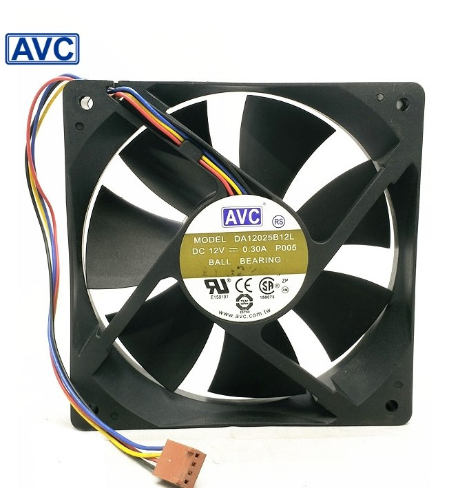 AVC DA125B12L 2V 0.3A 12cm球軸承冷卻風扇