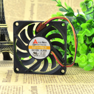 Y.S.TECH FD127010LB 7cm DC12v 0.2A graphics card cooling fans