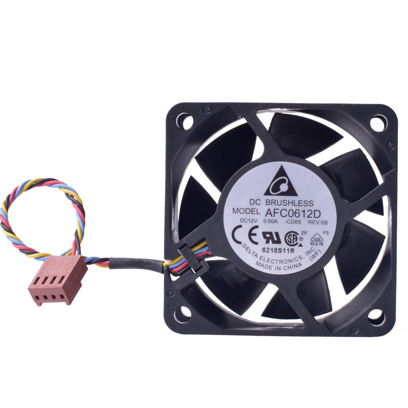 DELTA AFC0612D 60m 12V 0.60A 4-wire 4Pin PWM double ball bearing high volume air cooling fan
