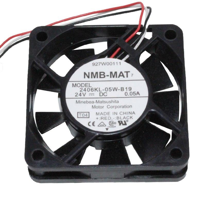 NMB 2406KL-05W-B19 DC 24V 0.05A 1.2w inverter cooling fan