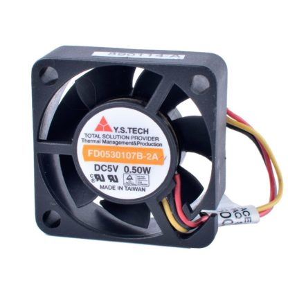 Y.S.TECH FD0530107B-2A 3cm 30mm fan 5V 0.50W Double ball bearing micro cooling device fan