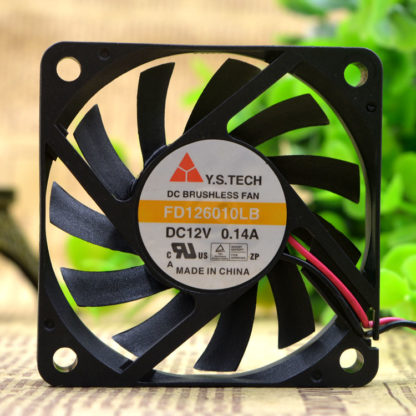 Y.S.TECH FD126010LB 12V double ball 6CM 2-wire 3-wire cooling fan