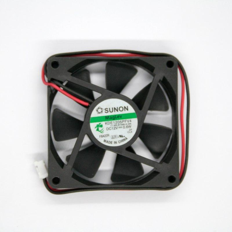 SUNON KDE15PFV4 DC 12V 0.6W 5CM 2 hilos ventilador silencioso de refrigeración