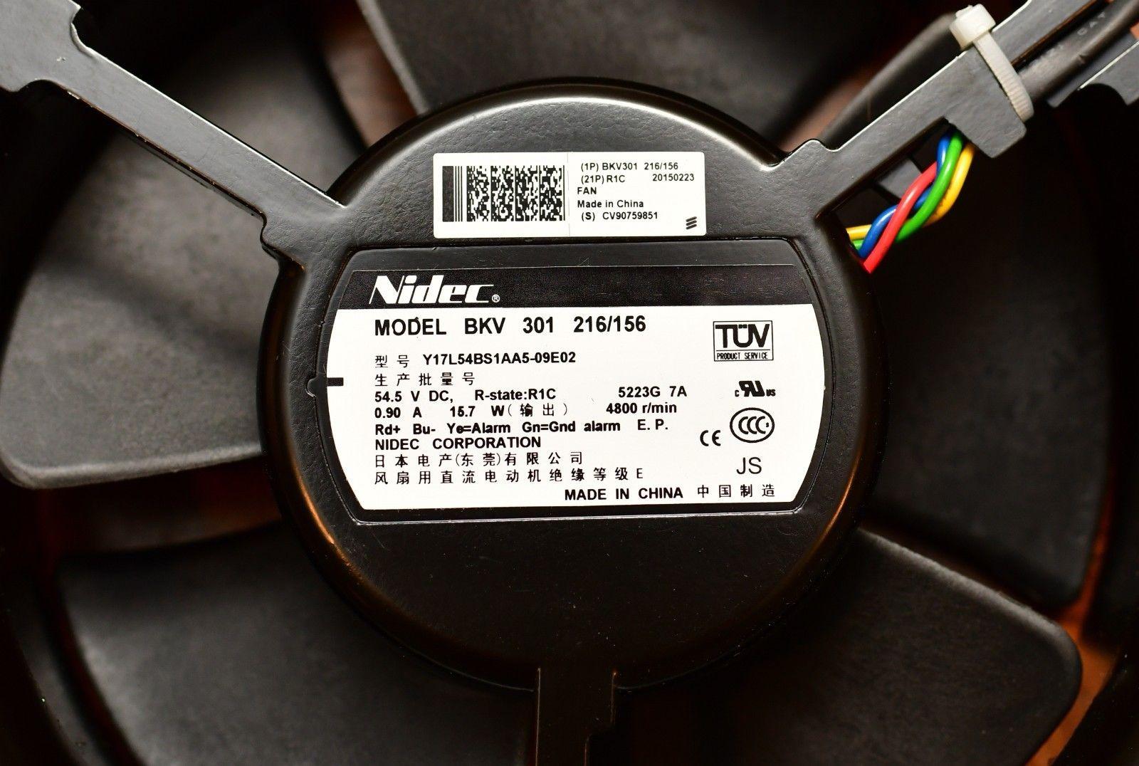 Nidec Общественный 301 216/156 Y17L54BS1AA5-09E02 4800 вентилятор RPM 54.5V DC