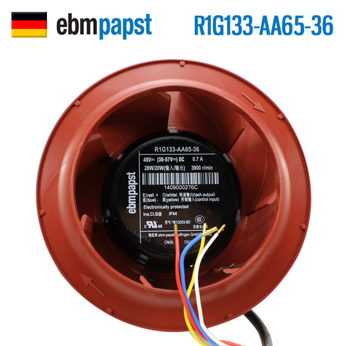 ebmpapst R1G133-AA65-36 48V 0.7A control speed cooling fan