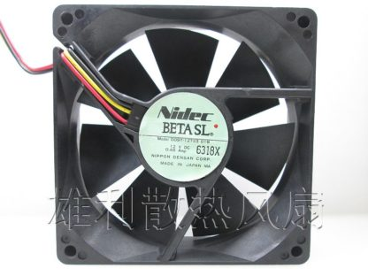 Nidec D09T-12TS3 01B 12V 0.48A  3-wire cooling fan