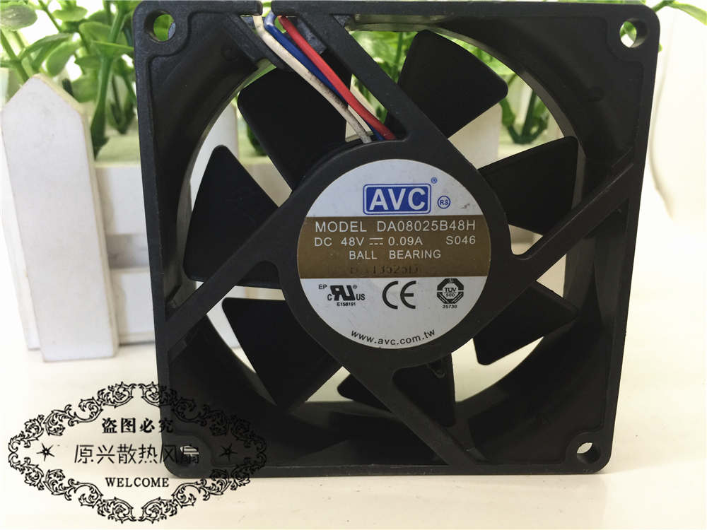 AVC DA08025B48H 48V 0.09A Double ball server cooling fan