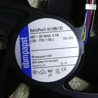 ebmpapst 4118N/12I 48V DC 94mA 4.5W cooling fan
