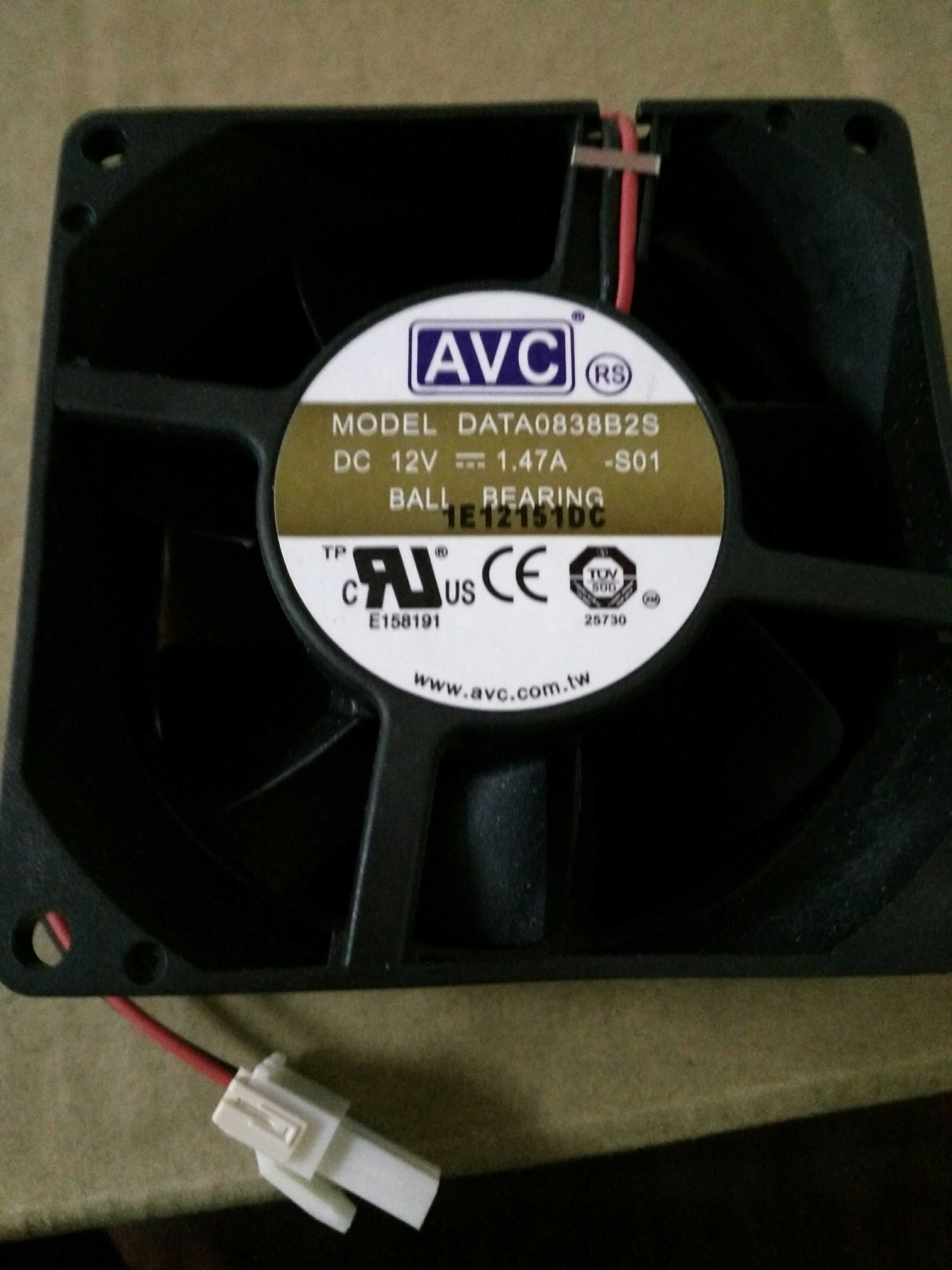 AVC DATA0838B2S 12V 1.47A 2wires cooling fan