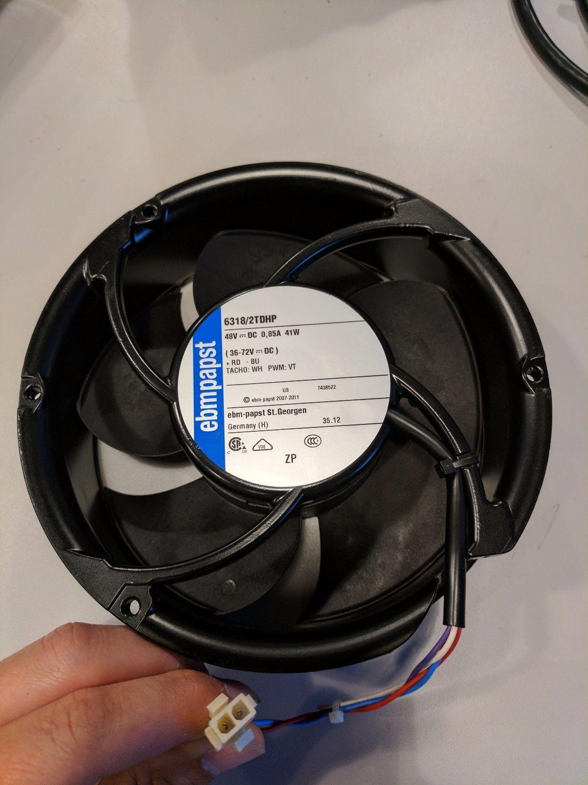ebm-papst 6318/2TDHHP DC 48V 67W 7000RPM Ball Bearing Fan