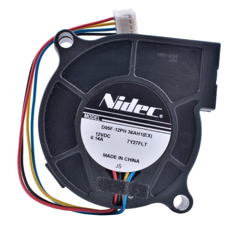 Nidec D05F-12PH 36AH1(EX) 12V 0.14A 4pin Turbo Blower Cooling Fan