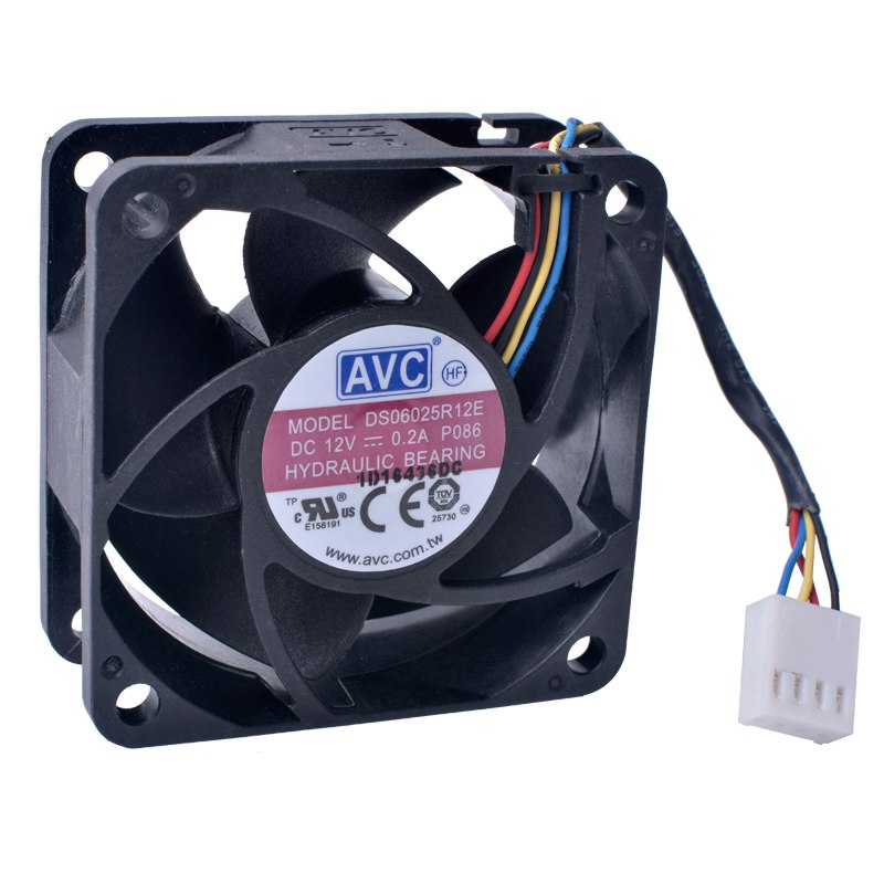 AVC DS06025R12E DC12V 0.2A 4wire hydraulic bearing fan