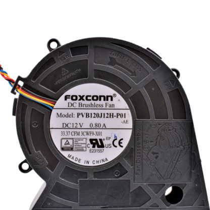FOXCONN PVB1J12H-P01 DC12V 0.80A projector Brushless fan