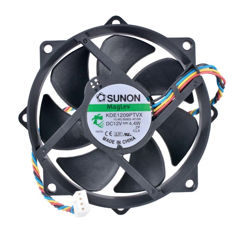 1 PCS Sunon Fan KDE1209PTVX  DC 12V 4.4W 92*92*25mm 4 Pin